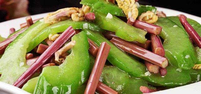 蕨菜炒苦瓜