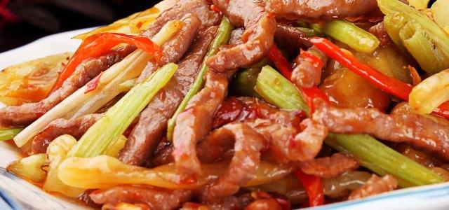 芹菜泡椒牛肉