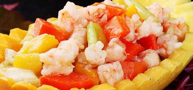 蔬果和虾的狂欢