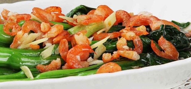 虾米炒菜心