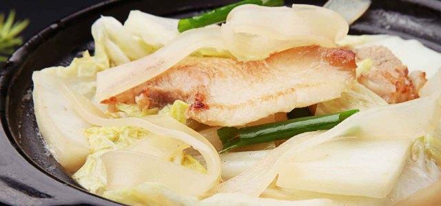 大白菜粉条盐煎肉