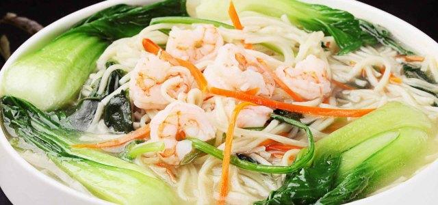 虾仁菠菜面