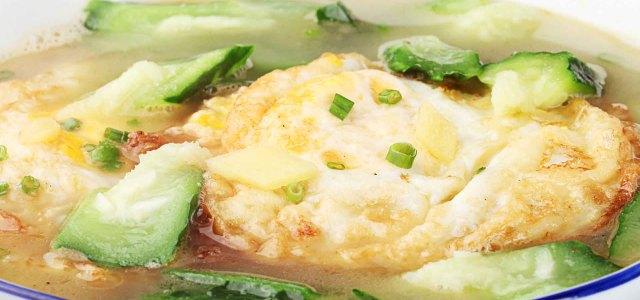 丝瓜煮荷包蛋