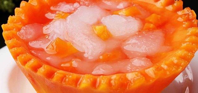 木瓜炖雪蛤