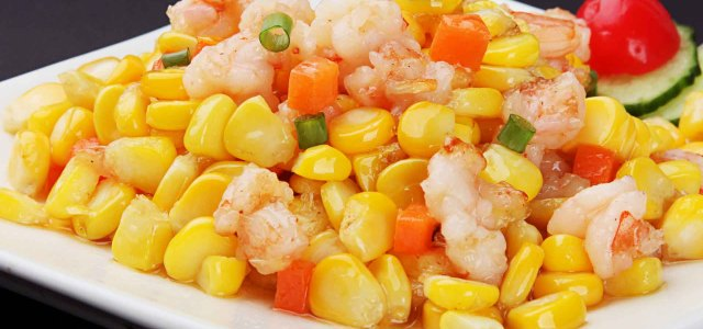 虾仁柔嫩,玉米香甜