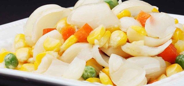 百合炒玉米