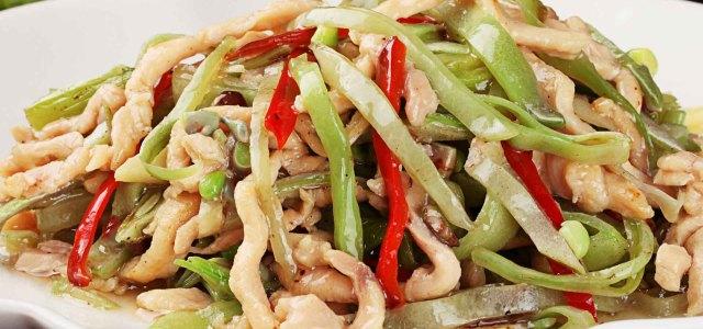 扁豆炒鸡丝