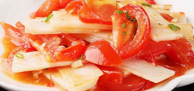 西红柿炒山药片