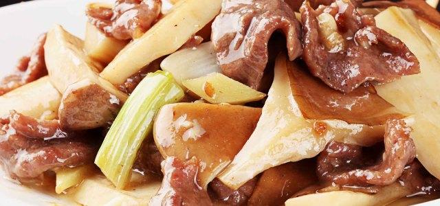 猪肚菇炒牛肉