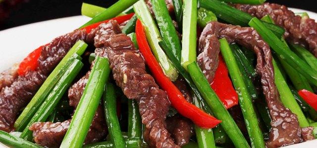 韭菜花炒牛肉