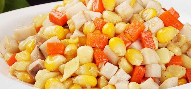 杏鲍菇炒甜玉米