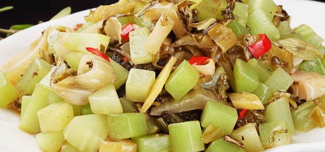 莴笋炒酸菜