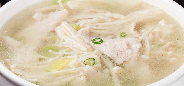 芹菜金针菇猪肉汤