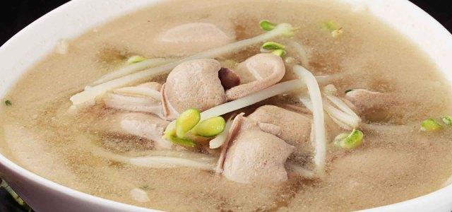 豆芽腰片汤
