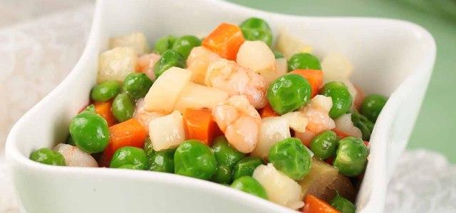 马蹄豌豆炒虾仁