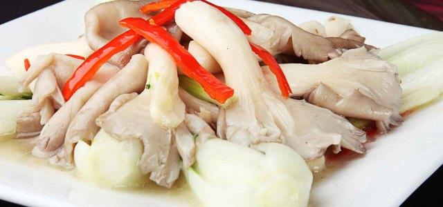 小白菜炒平菇