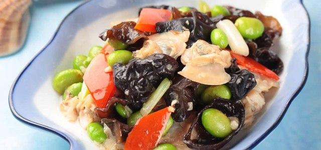 健康的海鲜什蔬小炒