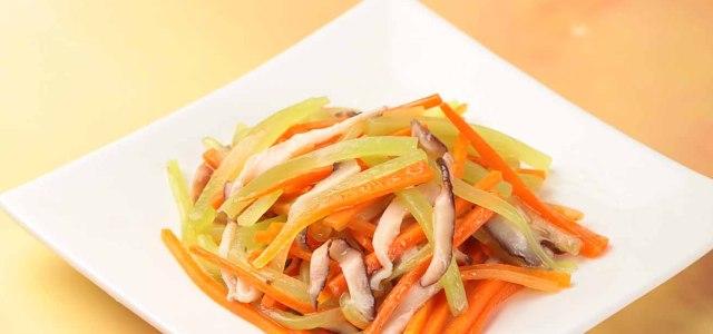 香菇炒双丝