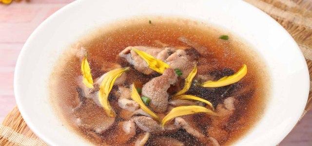 猪肝瘦肉生津汤