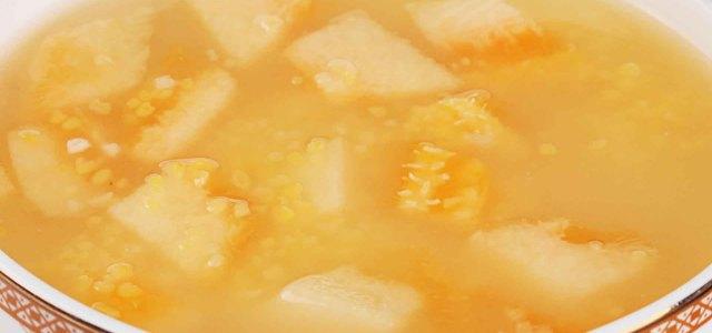 有哈密瓜的粥更香甜