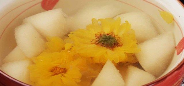 菊花桔梗雪梨汤