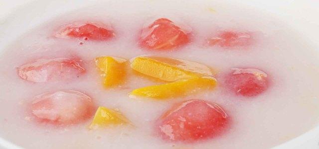 黄桃西瓜牛奶糖水