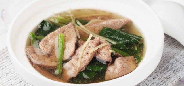 双仁菠菜猪肝汤