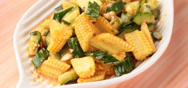 黄瓜拌玉米笋