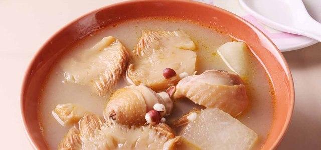 猴头菇冬瓜薏米鸡汤