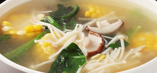 有菌菇的汤,就是好喝!