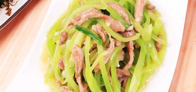 莴笋炒瘦肉