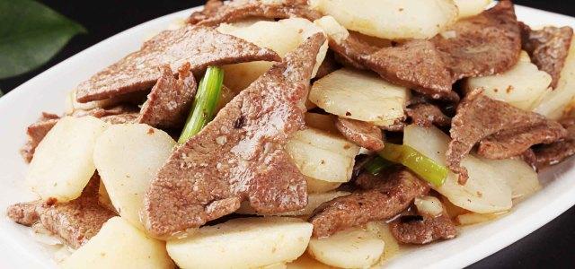 红椒马蹄炒猪肝