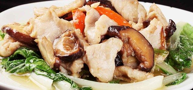 小白菜香菇扒肉