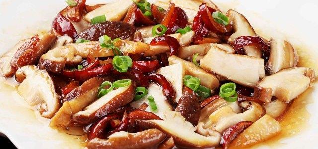 香菇蒸红枣