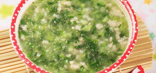 青菜肉末汤
