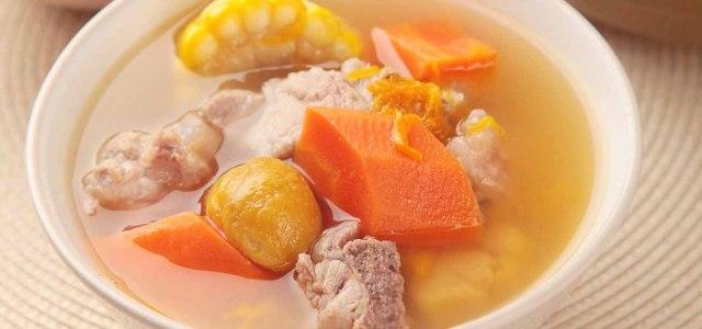 南瓜红萝卜栗子汤
