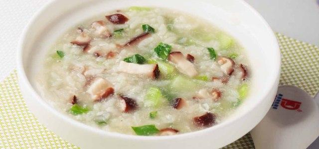 香菇蛋花上海青粥