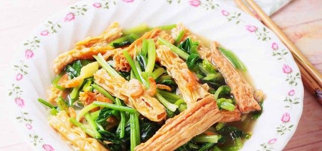 腐竹烩菠菜