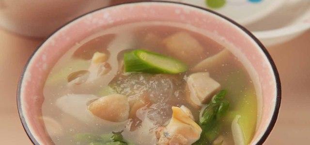燕窝芦笋蚬肉汤