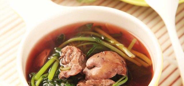鸡肝煮汤也滋养