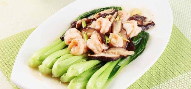 虾菇油菜心