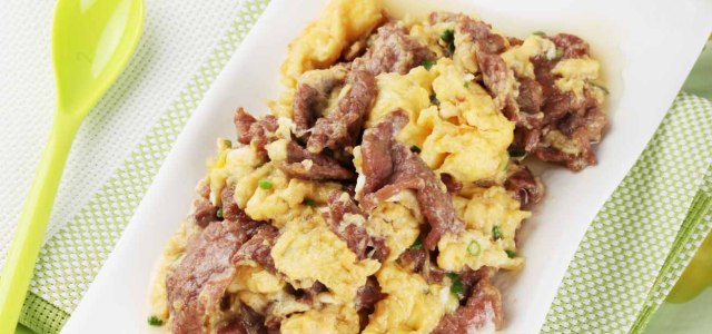 牛肉炒鸡蛋