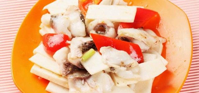 鲜笋炒生鱼片
