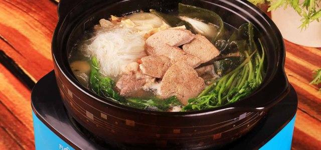 涮猪肝火锅