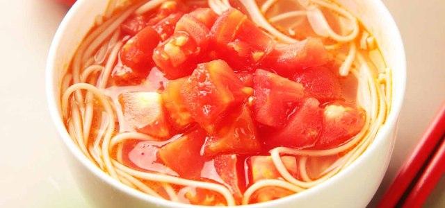 西红柿碎面条