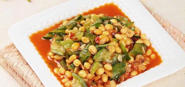 丝瓜焖黄豆