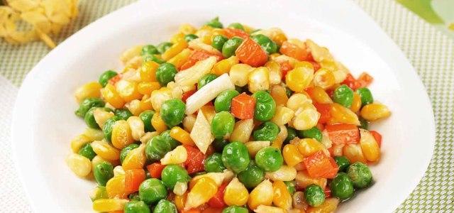豌豆炒玉米