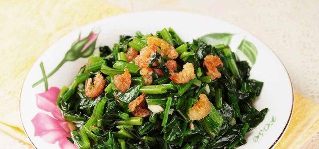 蒜香虾米菠菜