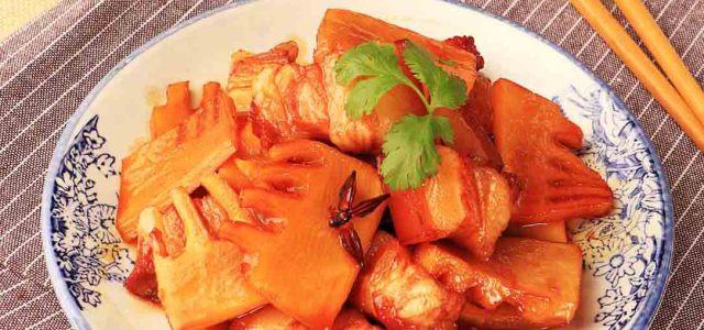 鲜笋红烧肉