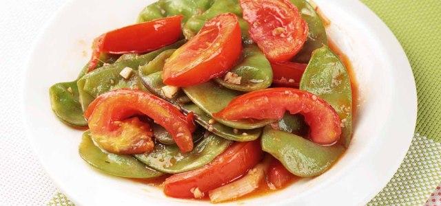 西红柿炒扁豆